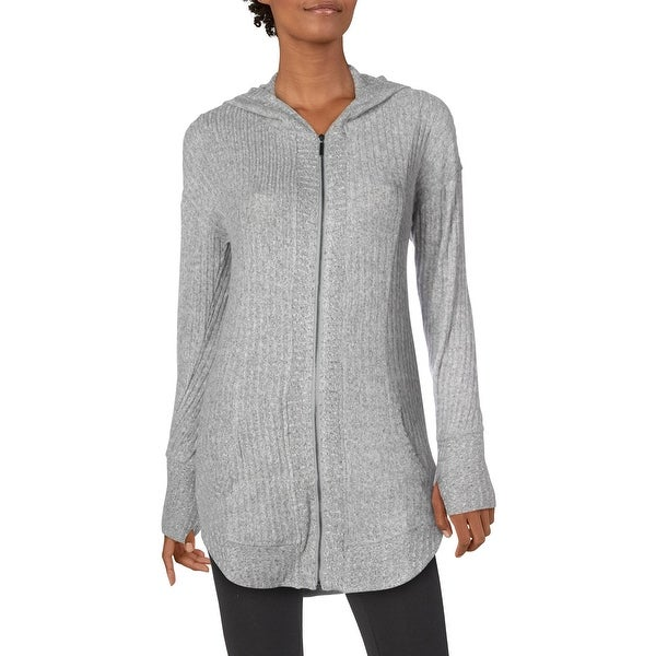 Splendid Women's Ribbed Knit Full Zip Yoga Activewear Sweater Jacket. Opens flyout.