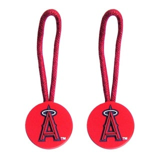 LOS Angeles Angels Zipper Pull Charm Tag Set Luggage Pet ID MLB
