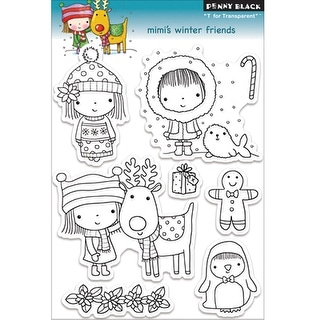 "Penny Black Clear Stamps 5""X7""-Mimi's Winter Friends"