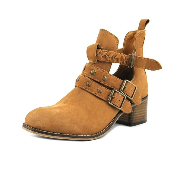 Diba True West Valley Women Round Toe Leather Brown Ankle Boot