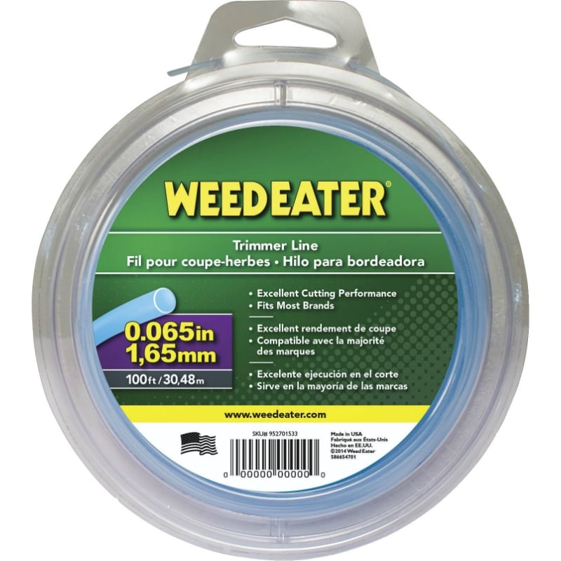 Weed Eater 588937904 Round Trimmer Line, 0.065 x 100