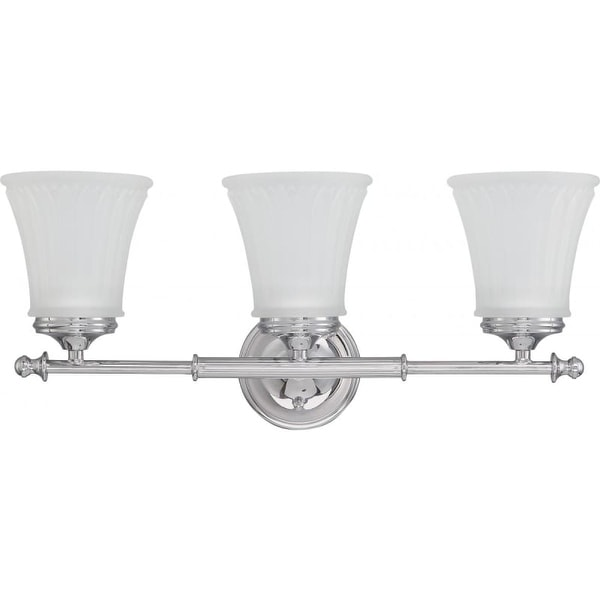 Nuvo Lighting 60/4263 Teller Three Light Bathroom Fixture with Frosted Etched Glass