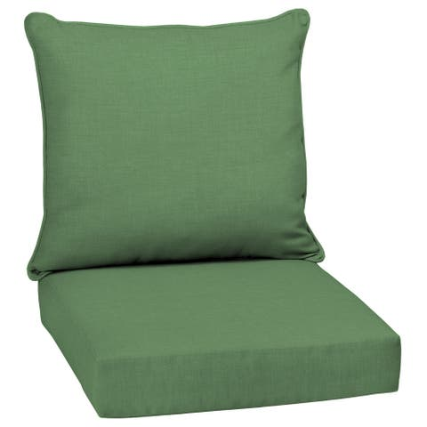 Arden Selections Moss Leala Texture Outdoor Deep Seat Cushion Set - 24 W x 24 D in.