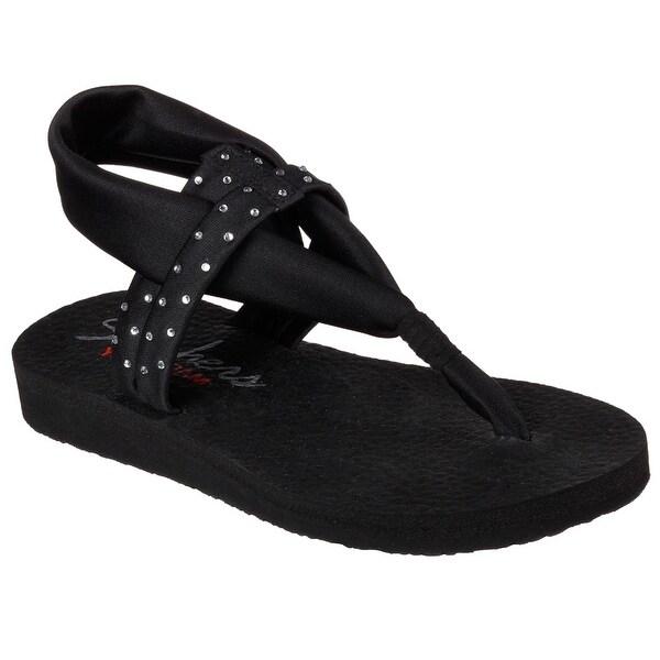 Skechers 38612 BLK Women's MEDITATION-SHOOTING STAR Sandals