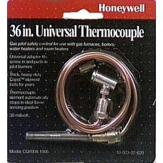 "Honeywell CQ100A1005 Universal Thermocouple, 36"", Copper"