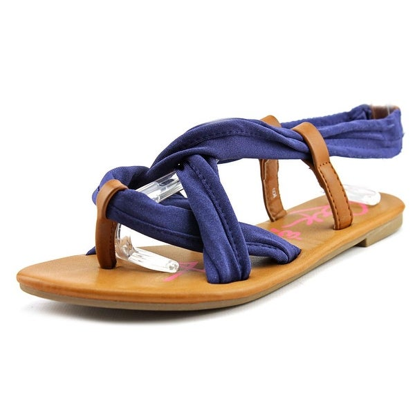 Rock & Candy Jumpy Women Open Toe Canvas Blue Gladiator Sandal