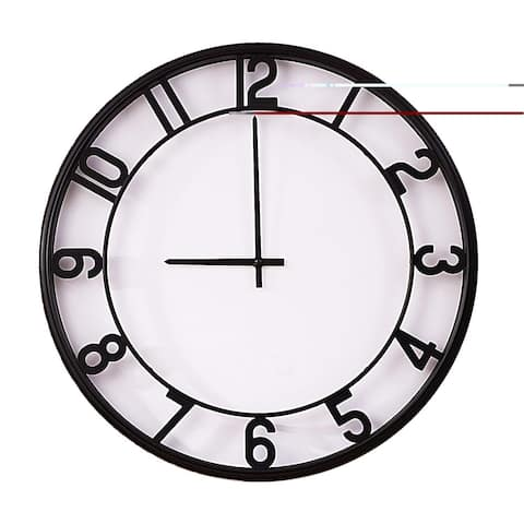 """Hello Laura Cute 20"""" Wall Clock with Glass Shell Photo Frame"""