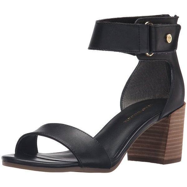 Tommy Hilfiger Womens Charlot Leather Open Toe Casual Ankle Strap Sandals