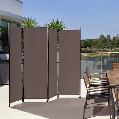 4-Panel Foldable & Adjustable Room Divider Privacy Screen