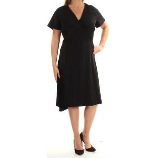 ANNE KLEIN $149 Womens New 1629 Black Fit + Flare Dress 14W Plus B+B
