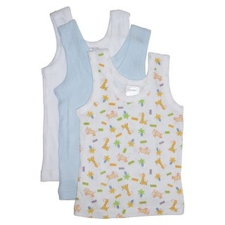 Bambini Baby Boys Multi Color Variety Print Sleeveless 3-Pack Tank Tops