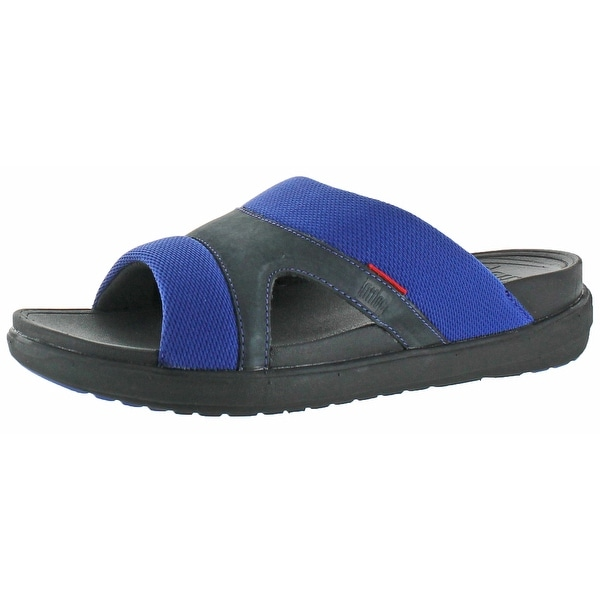 c7612972aed8f0 Shop FitFlop Freeway II Men s Slide Leather Sandals - Free Shipping ...