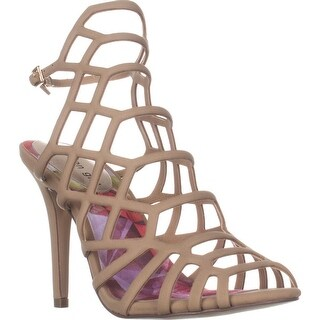 madden girl Directt Caged Ankle Strap Sandals, Nude
