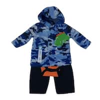 Bon BeBe Baby Boys Blue Camouflage Jacket Bodysuit 3 Pc Pant Set