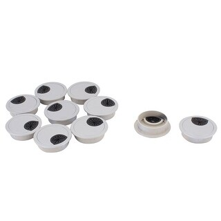 Office Computer Desk Table Plastic Grommet Wire Cord Cable Hole Cover 50mm 10pcs