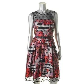 Eliza J Womens Mesh Floral Print Party Dress - 8