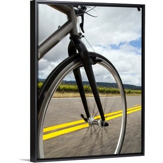 """Link to """"Man road biking at high speed"""" Black Float Frame Canvas Art Similar Items in Cycling Equipment"""