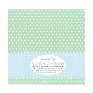 6 x 6 in. Pastel Polka Cards with Envelopes, 8 Per Pack