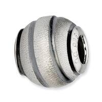 Italian Sterling Silver Reflections Grey Laser Cut Bead (4mm Diameter Hole)