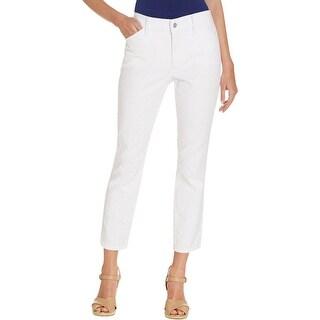 NYDJ Womens Petites Ankle Pants Textured Skinny