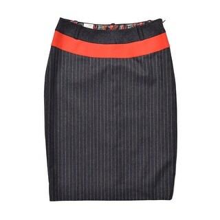 Paul Smith Womens Grey Wool Pin Striped Skirt