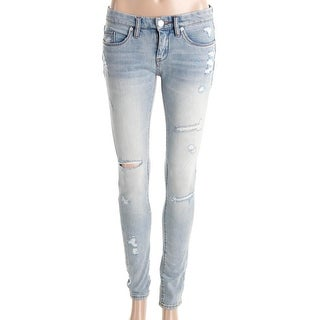 Blank NYC Womens Skinny Jeans Denim Distressed