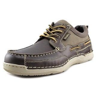 Simple Fathom Men Moc Toe Leather Boat Shoe