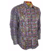 Robert Graham  Limited Edition Numbered Morty Sports Dress Shirt L