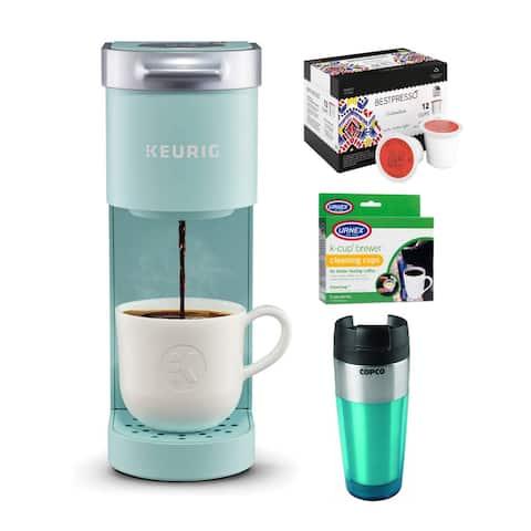 Keurig K-Mini Single Serve Coffee Maker (Oasis) & Roast Coffee Bundle