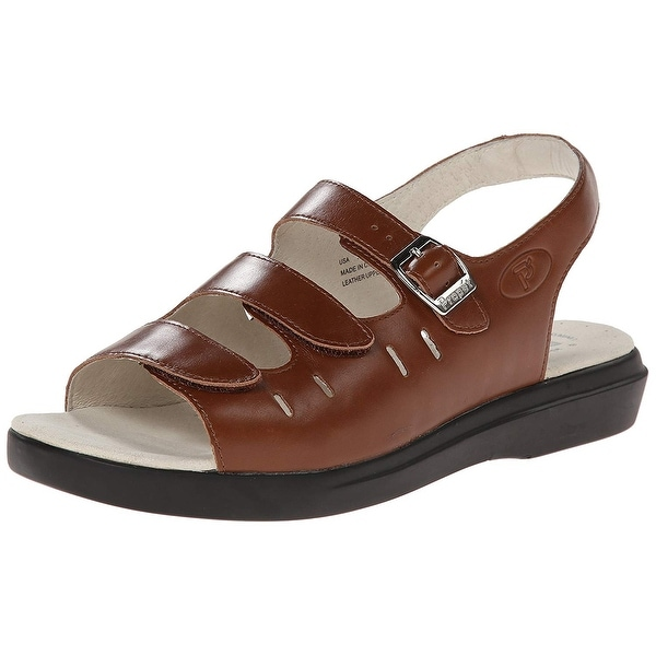 65c70b46d82528 Shop Propét Womens BREEZE WALKER Leather Open Toe Casual Sport ...