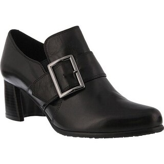 Spring Step Women's Dayana Heel Black Leather