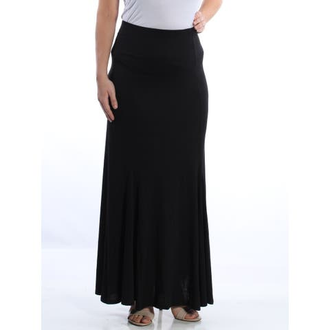 LOVE FIRE Womens Black Full-Length Circle Evening Skirt Size: L