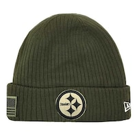 5ec8d7063 New Era 2018 NFL Pittsburgh Steelers Salute to Service Knit Hat Stocking  Beanie