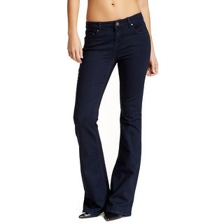 LOVE FIRE NEW Navy Blue Women's Size 28X34 5-Pocket Super Flare Jeans
