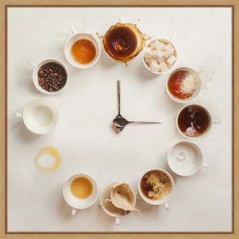 It's Always Coffee Time by Dina Belenko Framed Canvas Art