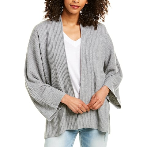Vince Split Panel Wool & Cashmere-Blend Cardigan - MED H GREY