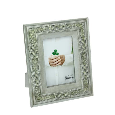 """9"""" Light Sage Green Irish Inspired Celtic Knot Picture Frame 4"""" x 6"""" - 4-inchx6-inch"""