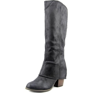 Fergalicious Lundry Women Round Toe Synthetic Black Knee High Boot