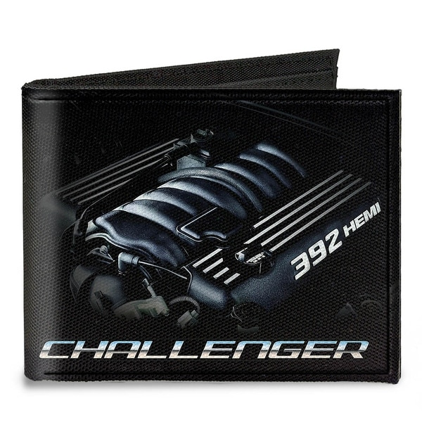 Challenger Bold 392 Hemi Engine Canvas Bi Fold Wallet One Size - One Size Fits most