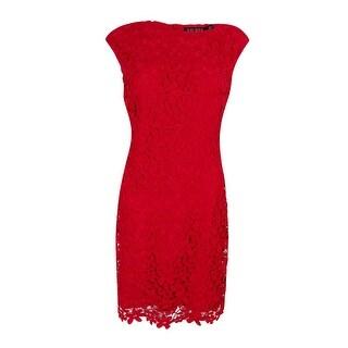 Lauren Ralph Lauren Women's Lace Bateau-Neck Dress