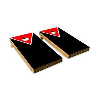 Classic Triangle - Red, Black Cornhole Board Set