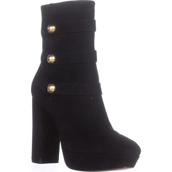 MICHAEL Michael Kors Maisie Ankle Boots , Black Leather - 8.5 us / 39 eu