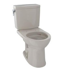 Toto CST453CUFG Drake? II 1.0 GPF Two Piece Round Toilet with CeFiONtect? Ceramic Glaze - Less Seat
