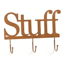 Demdaco Embellish Your Story Rustic Stuff Wall Word With Hooks