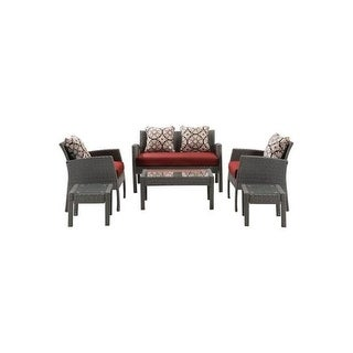 Hanover Outdoor CHEL-6PC-RED Chelsea 6-Piece Patio Set in Crimson Red