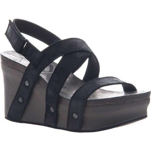 Shop Women S Modzori Sabra Wedge Thong Sandal Beige Gold