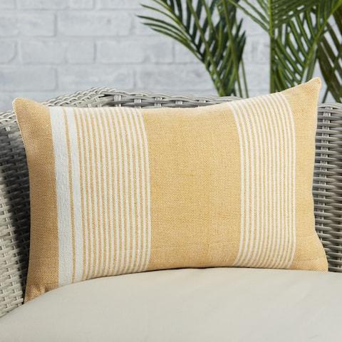 Ladonna Indoor/ Outdoor Striped Lumbar Pillow