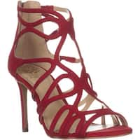 Vince Camuto Lorrana Peep Toe Heeled Sandals, Red Rose
