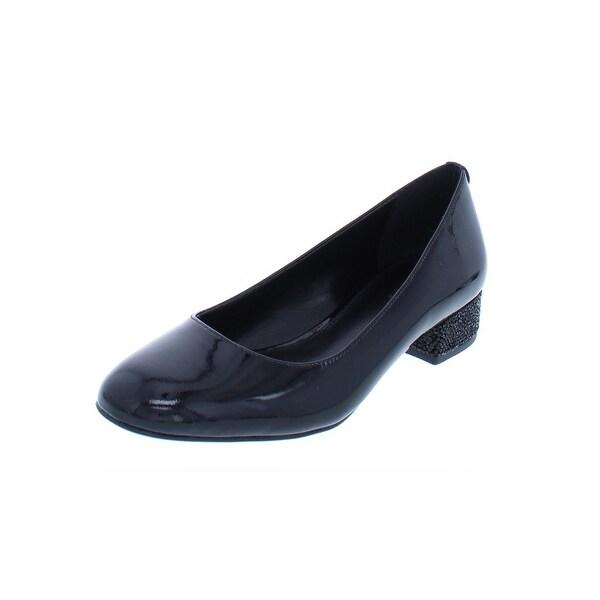 19ca056dcab MICHAEL Michael Kors Womens Cher Kitten Heels Patent Leather Dressy - 5  Medium (B