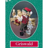 "11.75"" Zims The Elves Themselves Griswald Collectible Christmas Elf Figure - multi"